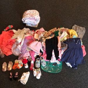 3 to 6 months variety of little girls clothes